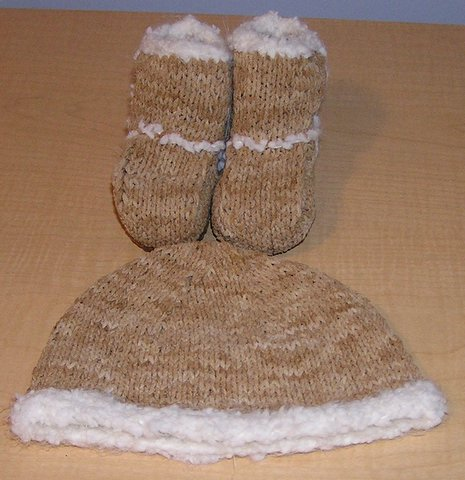 Ugg Booties and Hat
