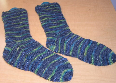 Basic Blue Socks