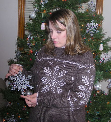 Bernat Snowflake Sweater